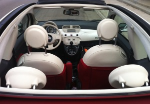Interior Fiat 500C . Pic by silentlines