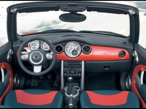 Interior Mini Cooper S Cabriolet. Pic by windtoface