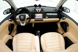 Interior Smart Fortwo. Pic by thoughtyoumayask