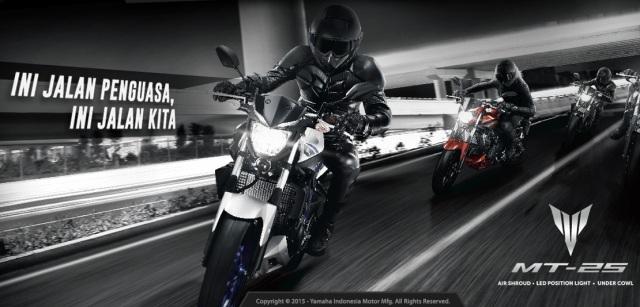da urang mah naon atuh cuma remahan rampeyek, numpang jalan milik penguasa. Pic by Yamaha Indonesia